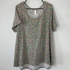 LulaRoe Classic Tee 3XL Soft Floral Short Sleeves